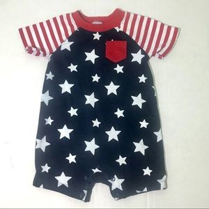 🔹4/$25 Way to Celebrate 3-6M Patriotic Romper
